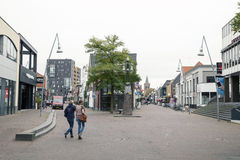 People walking in the centre of Ede. In The Netherlands Royalty Free Stock Photo