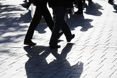 People walking in the city Royalty Free Stock Photography