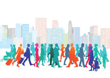 People walking in the city Royalty Free Stock Image