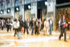 People walking in city, motion blur, zoom effect. Urban move, people walking in city, motion blur, zoom effect royalty free stock photo
