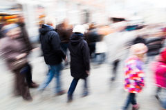 People walking in the city in a rush Stock Images