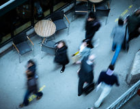 People walking in the city seen from above royalty free stock photography