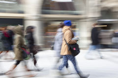 People walking in the city Stock Photos