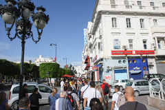 People walking in city of Tunis Royalty Free Stock Photography
