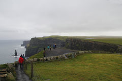 People walking in Cliffs of moher, Ireland Stock Photography
