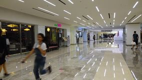 People walking at Coex Shopping Mall in Seoul, Korea.  stock footage