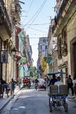 Life in colorful street Havana, Cuba Stock Image