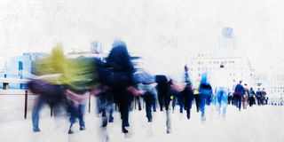 People Walking Commuter Busy Concept Stock Photography