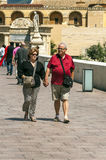 People walking in Cordoba stock image