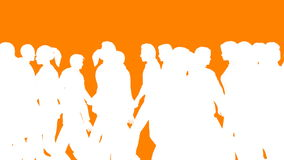 People Walking By (3D Vector Silhouette Animation) stock video footage