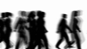 People Walking By (3D Vector Silhouette Animation) stock video