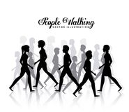 People walking design Royalty Free Stock Photos