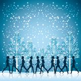 People walking design. Vector illustration eps10 graphic Royalty Free Stock Images