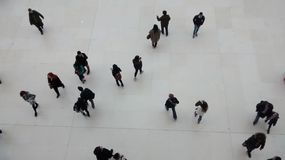 People walking in different direction. Picture took in the national museum of London Royalty Free Stock Images