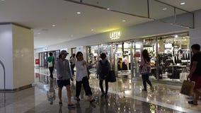 People walking at Dongdaemun Shopping Mall in Seoul, Korea stock video footage
