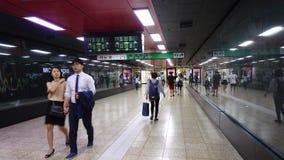 People walking at Dongducheon Jungang Station in Seoul, Korea stock footage