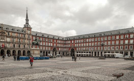 People walking down in plaza mayor Royalty Free Stock Photography