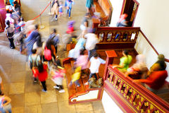 People Walking Down Through The Stair Royalty Free Stock Images