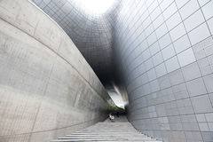 People walking down the stairs of Dongdaemun Plaza, Seoul Stock Images