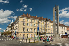 People Walking Downtown Of Cluj Napoca Royalty Free Stock Photo