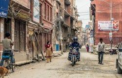 People walking at Durbar Square in Kathmandu. KATHMANDU - OCTOBER 05: People walking at Durbar Square in Kathmandu, Nepal, October 05, 2017 Stock Image