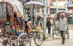 People walking at Durbar Square in Kathmandu. KATHMANDU - OCTOBER 05: People walking at Durbar Square in Kathmandu, Nepal, October 05, 2017 Stock Photos
