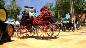 People walking at the fair, Jerez de la Frontera stock video footage