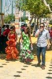 People walking at the fair Royalty Free Stock Photos