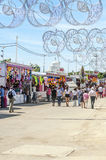 People walking at the fair Stock Image