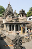 People walking in front of Maheshwar palace on India Royalty Free Stock Photos