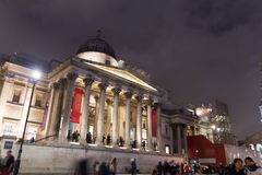 People walking in front of the National Gallery, London, UK Stock Photography
