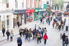 People walking on the Grafton Street, Dublin, Ireland Stock Photography