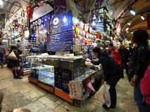 People in Grand Bazaar Stock Photography