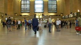 People walking in Grand Central Station. New York stock video footage