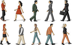 People walking Royalty Free Stock Images