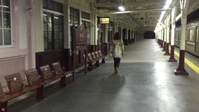 People walking at the hall of the JR train station in Tokyo, Japan stock video footage
