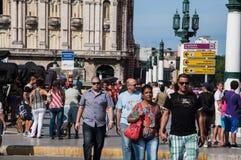 People walking in Havana, Cuba Stock Photos