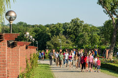 People Walking In Herastrau Public Park Royalty Free Stock Photo
