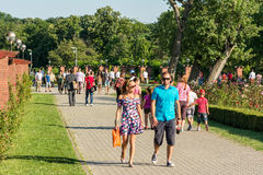 People Walking In Herastrau Public Park Stock Photography