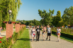 People Walking In Herastrau Public Park Royalty Free Stock Photography