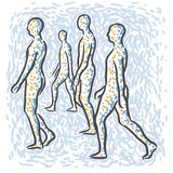 People walking royalty free illustration