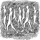 People walking stock illustration