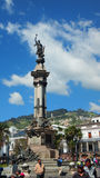People walking in Independence Square in the Historic center of Quito Stock Photos
