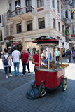 People walking on Istiklal Street Royalty Free Stock Images