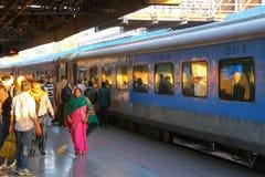 People walking at Jaipur Junction railway station in Rajasthan, Royalty Free Stock Image