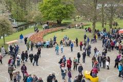 People walking in the keukenhof Royalty Free Stock Photo