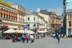 People walking on Kuznetsky Most Street Stock Photos