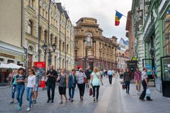 People walking on Kuznetsky Most Street Royalty Free Stock Images