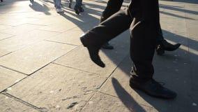 People walking stock footage