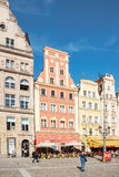 People walking on Main Market Square in Wroclaw Stock Photos